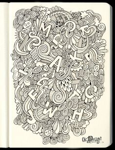 2011 2012 DOODLES Batch 4 Full Page Drawings By Lei Melendres Via