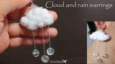 Cloud and rain earrings: How to make