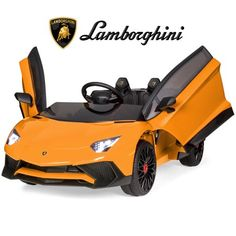 Best Choice Products Kids Ride On Vehicle Lamborghini Aventador SV Sports Car w/ Parent Control, AUX Cable - Orange * See this great product. (This is an affiliate link) Lamborghini Aventador, Sports Cars Lamborghini, New Sports Cars, Sport Cars, Jaguar Xk, Kids Ride On, Ride On Toys, Expensive Cars, Baby Girls