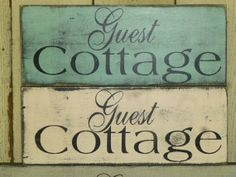 GUEST COTTAGE SIGN / shabby chic sign / cottage sign / guest sign / handpainted cottage sign / shabby cottage chic guest sign /guest cottage...