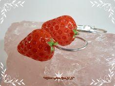 Ohrringe - Früchte Strawberries Erdbeeren Ohrringe rot silber - ein Designerstück von Miss-AraBeeXX bei DaWanda