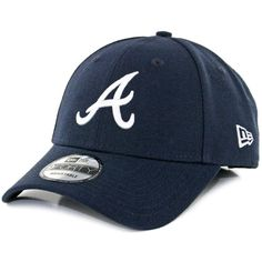 Atlanta Braves Road The League 9forty Adjustable Cap by Era Navy  ae2ecf1e3