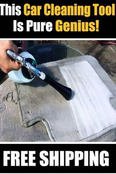It is the coolest and simplest way to clean automotive surfaces, needs low maintenance and creates less noise and air pollution.The auto detailing tool cleans and air dries in seconds. You will be amazed to see that the dust particle is immediately escaped from fabrics, carpet, plastics, and upholstery inside your car.Also, it helps cleaning wheels, convertible tops, steering wheel, door panels, car roof, engine surface, tire surface, yard ground, beach chair, bicycle, motorbike, glass and… Car Upholstery Cleaner, Diy Carpet Cleaner, Car Cleaning, Cleaning Hacks, Car Vacuum, Clean Your Car, Pressure Washing, Air Pollution, Car Detailing