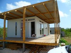 Tropical Shipping Container Home If you like Duct Tape please follow our boards!