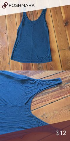 Beautiful dark teal tank top! Size M. Dark teal tank top by Old Navy. Slight v-shaped back as shown. Incredibly comfortable! Only worn once. 95% rayon, 5% spandex. Old Navy Tops Tank Tops