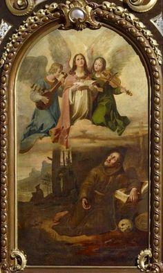 Vidění sv. Františka na Laverně, 1823; Raspenava farní kostel Nanebevzetí Panny Marie (Josef Führich)