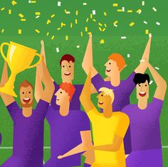 Win or learn, never lose 🏆 Motion Graphics, Fan, Sport, Football Soccer, Learning, Games, Happiness, Illustrations, Design