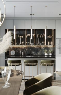Enhance Your Senses With Luxury Home Decor Luxury Kitchen Design, Interior Design Kitchen, Modern Interior Design, Living Room Kitchen, Home Decor Kitchen, Luxury Home Decor, Luxury Interior, Luxury Dining Room, House Design