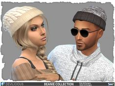 The Sims Resource: Beanie Collection  26 – Kids 24 by Devilicious • Sims 4 Downloads