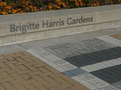 Donor Recognition for Gardens at Detroit Riverfront.