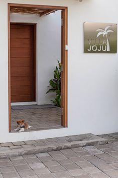 Villa JOJU- THE PERFECT FAMILY VILLA | Bali Interiors Outdoor Areas, Outdoor Dining, Outdoor Decor, Small Fish Pond, Interior Room Decoration, Interior Design, Small Villa, Fireplace Garden, Tv In Bedroom