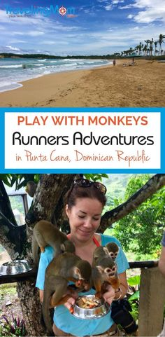 Who wants to feed a monkey? Learn hown you can do that and more at Runners Adventures monkey compound, Monkeyland, near Punta Cana, Dominican Republic.