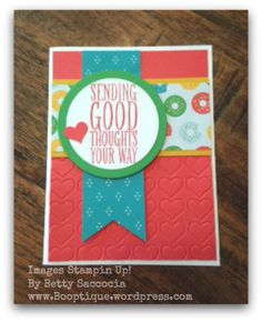 """Don't forget about the """"old"""" stamps!  Perfect Pennants and Cherry On Top by Stampin' Up!   More on my blog, www.Booptique.wordpress.com 1/7/16"""