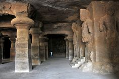 Elephant caves in India... looks to cool