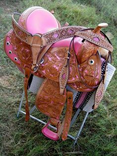 ❤ Cowgirl ;) pink western saddle