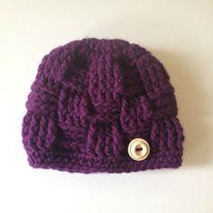 Crochet plum color basket weave beanie *newborn/0-3 month* $10  -Jen's Yarn Works-