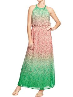 Old Navy   Women's Floral-Print Chiffon Maxi Dresses. This would be so easy to sew! I love the pattern!