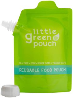 Take homemade #babyfood on the go with these reusable food pouches. BPA and phthalate free, easy to fill and seal, dishwasher and freezer safe.
