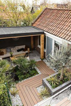 Cozy Backyard, Modern Backyard, Large Backyard, Small Patio, Small Garden Design, Patio Design, House Design, Small Backyard Landscaping, Landscaping Ideas