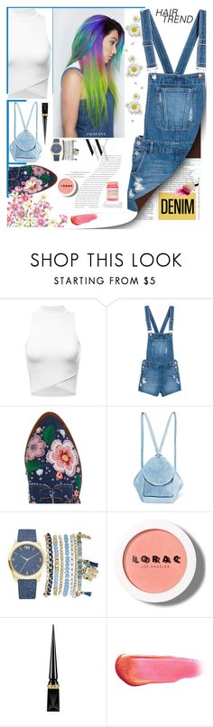 """Denim 4"" by archsan ❤ liked on Polyvore featuring Anouki, MANU Atelier, Balenciaga, Mixit, LORAC, Christian Louboutin, e.l.f., Lime Crime, topsets and alldenim"