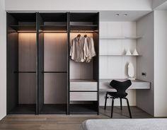 Interior on Behance Modern Minimalist, Minimalist Design, Bedroom Cabinets, Walk In Closet, Dorm Room, Bed Room, Dressing Room, House Design, Interior Design