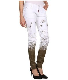 Dsquared2 S73la0035 S39781 - Blugi - Imbracaminte - Femei - Magazin Online Imbracaminte Women's Jeans, Dsquared2, Mall, White Jeans, Capri Pants, Boutique, Sexy, Fashion, Moda