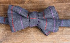 Thoreau  Wool  Grey with purple and red stripes