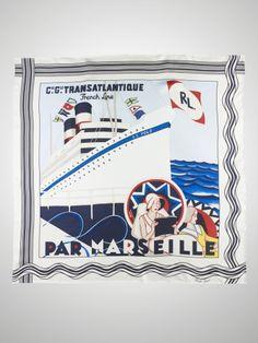 Marseille-Print Silk Scarf - Ralph Lauren Hats & Scarves - RalphLauren.com
