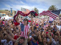 CR's managing editor Paul McMullen wants to know: Why watch #WorldCup games in a crowd? #USA (Pictured is a viewing party in Calif. during the 2014 Brazil World Cup)