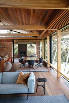 Tutukaka House by Herbst Architects Dream House Exterior, Dream House Plans, Interior Architecture, Interior And Exterior, Exterior Design, Interior Office, Sustainable Architecture, Residential Architecture, Contemporary Architecture