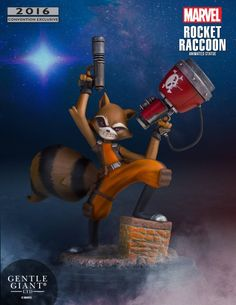 Gentle Giant Marvel Guardians of the Galaxy Rocket Raccoon Animated Statue.