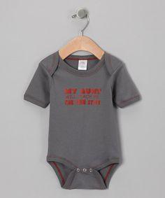 Gray 'My Aunt Will Teach Me' Organic Bodysuit - Infant by Urban Smalls