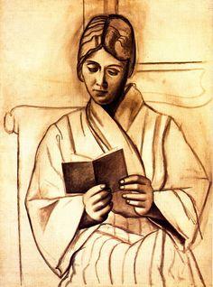 Pablo Picasso -Woman reading (Olga) 1920