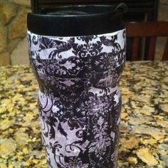 Decoupaged my old coffee cup