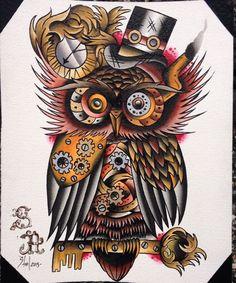 Znalezione obrazy dla zapytania steampunk tattoo