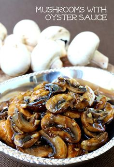 These Mushrooms with Oyster Sauce are the most amazing topping for a steak or a burger! These mushrooms are going to work on chicken pork or just as a side dish too! Mushroom Recipes, Vegetable Recipes, Mushroom Sauce, Recipes With Oyster Sauce, Recipe Using Oyster Sauce, Sauce Recipes, Mixed Vegetables, Veggies, Stuffed Mushrooms