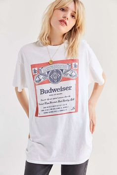 Junk Food Budweiser Classic Tee from Urban Outfitters - SIZE MEDIUM