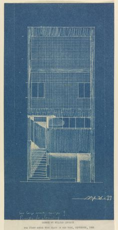 Architectural Drawings, Models, Photos, etc... — inmemoriaaeterna:   William Lescaze. Sketch for...