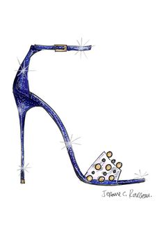 Disney Asked 9 Designers To Create Their Version Of Cinderella's Glass Slipper #refinery29  http://www.refinery29.com/cinderella-slipper-fashion-designers#slide-6  Jerome C. Rousseau offers a summer sandal.