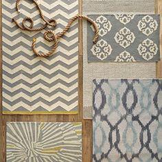 Ikat Links Wool Rug | west elm (bottom right corner) (I also like the rug in the upper left corner)