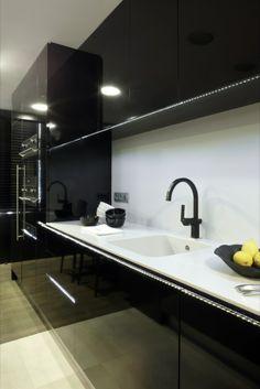 #modern #black #cabinet #kitchen #armarios de #cocina en #negro #brillante