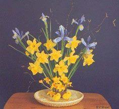 flower arrangement pics - Google Search daffodil and iris