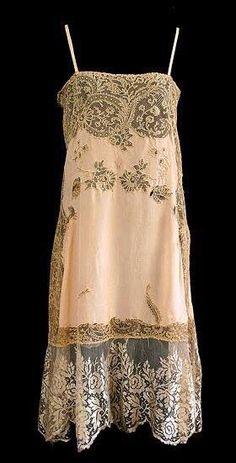 French silk/lace slip, 1920s - blue lingerie, plus size leather lingerie, lingerie galleries *ad