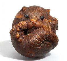Art Netsuke, Ivory Netsukes, Netsuke Animaliers, Netsuke Ii, Netsuke Mice Rat, Collectable Style Netsuke, Netsukes Ii, Netsuke Ojime Inro Okimono