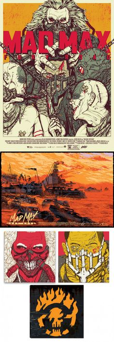 Killian Eng and Boneface celebrate Mad Max Fury Road at Mondo this friday, with 2 print drops as well as the release of some gorgeous vinyls of the original soundtrack. Mad Max Fury Road, Kilian Eng, Best Sci Fi, Sci Fi Movies, Geek Art, Blade Runner, Sci Fi Fantasy, Jurassic Park, Narnia