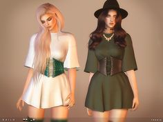 Created By toksik toksik - Bailo Dress Created for: The Sims 4 - 5 colours http://www.thesimsresource.com/downloads/1359816