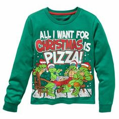 Teenage Mutant Ninja Turtles Cowabunga Juniors Christmas Ugly ...