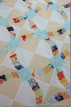 Metro Hoops Quilt.  Even more scrap quilt ideas