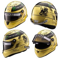 Michael Schumacher Marks 20th Year in F1 with Gold Helmet