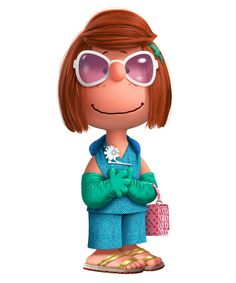 """See the Peanuts Characters in Prada, Maison Margiela, and More - Patricia """"Peppermint Patty"""" Reichardt in Prada  - from InStyle.com"""